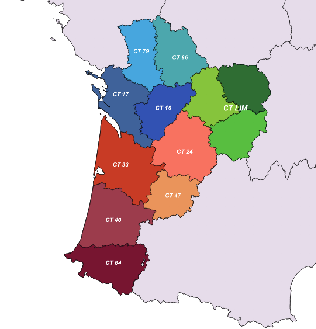 carte des CT